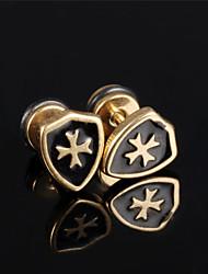 Boucle Forme de Croix Boucles d'oreille goujon Bijoux 1set Mariage / Soirée / Quotidien / Décontracté / Sports Acier au titaneFemme /
