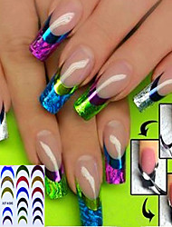1PCS  3D French Nail Stickers