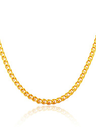 Men Jewelry Gold Necklace Wholesale New Trendy 18K Gold Plated Chunky Curb Cuban Link Chain Necklaces N50122