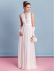 Lanting Sheath/Column Wedding Dress - Ivory Floor-length Bateau Chiffon