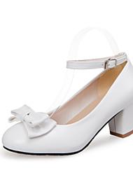Women's Shoes Chunky Heel Comfort / Round Toe Heels Wedding / Office & Career / Casual Black / Blue / Pink / White