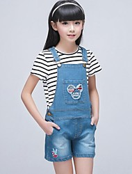 Girl's Jeans,Cotton Summer Blue