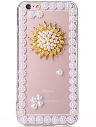 pearl-5 tpu + affaire pc transparent pour iphone6,6s