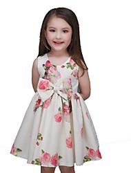 Girl's Multi-color Dress , Floral Polyester Summer