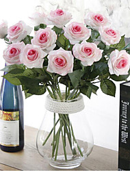 Artificial Flower  Long Stem Assorted Roses - Without Vase 1pc/set