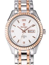 homens bestdon auto-liquidação relógio de 50m à prova d'água calendário semana 41 milímetros de aço de cristal da forma do vestido relógio