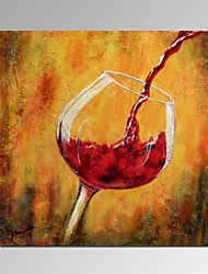 VISUAL STAR®Wine Oil Painting with Wood Frame Modern Wall Decor Canvas Art Ready to Hang