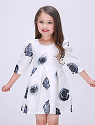 Girl's Multi-color Dress,Floral Rayon Spring / Fall