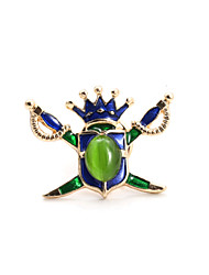 Fashion Women Cute Catseye Set Enamel Sword Pin Brooch