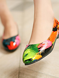 Women's Spring / Summer / Fall Pointed Toe Leatherette Outdoor / Dress / Casual Low Heel Multi-color