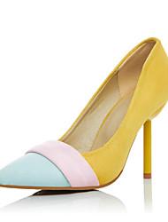 Women's Heels Spring Summer Fall Slingback PU Wedding Party & Evening Dress Stiletto Heel Yellow Beige