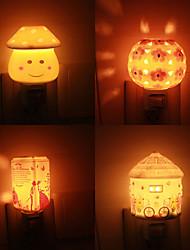 Energy-Saving Creative Cartoon Ceramic Plug The Light A Night Light Lamp LED