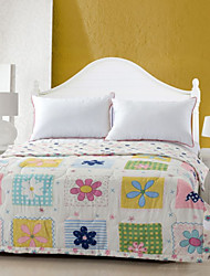 Summer Flowers High-end 100% Cotton Air Conditioning Quilt summer Cool Quilt Full/Queen Size