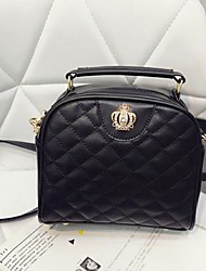 Women PU Sling Bag Shoulder Bag - Black