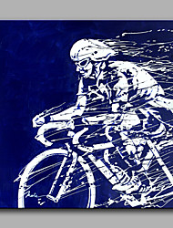 Oil Painting Modern Abstract Pure Hand Draw Ready To Hang Decorative  Riding A bike Movement Oil Painting