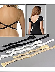 1PC Women Summer Low Back Dress Extension Bra Strap Long Belt Converter