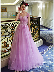 Formal Evening Dress - Lavender A-line Sweetheart Floor-length Tulle