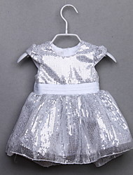 Vestido Chica de - Todas las Temporadas - Algodón - Plata