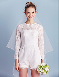 Lanting Bride Sheath/Column Wedding Dress-Short/Mini Jewel Lace