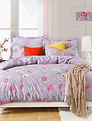 Purple World,  High-end Full Cotton Reactive Printing Pattern  Bedding Set 4PC, Queen/ Full Size Quality Goods