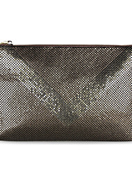 Ladies  Fashion Snake PU Clutch Hand Bag with Chain