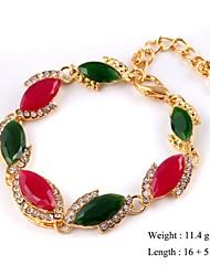 European Style Elegant Eye Shape Chain Bracelet Gold Plated
