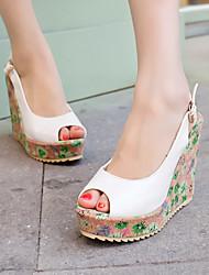 Women's Shoes Heel Wedges / Heels / Peep Toe / Platform Sandals / Heels Outdoor / Dress / CasualBlack / Green / Pink /