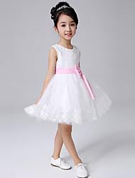 Vestido Chica de-Todas las Temporadas-Acrílico-Blanco