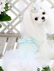 Dog Coat / Clothes/Clothing Blue Summer Fashion