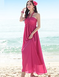 Women's Sexy Beach Halter Sleeveless Bohemia Maxi Dress