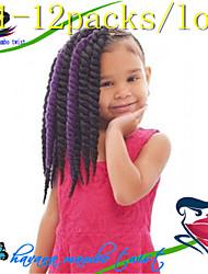 #27 / #30 / Gris / Bleu / Violet / punaise / #1B / #2 / n ° 4 La Havane Tresses Twist Extensions de cheveux 12-24inch Kanekalon 2 Brin