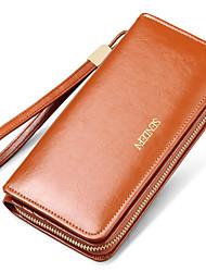 Women Cowhide Bi-fold Clutch / Evening Bag / Card & ID Holder / Wristlet / Mobile Phone Bag