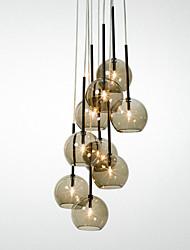 Luzes Pingente ,  Rústico Pintura Característica for Estilo Mini Metal Sala de Estar Sala de Jantar Entrada Corredor
