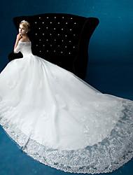 A-line Wedding Dress Floor-length Bateau Organza with Lace