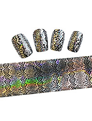 1PCS New 100x4cm  Mixed Nail Art Foils Priting Glitter Design  Nail Art DIY  Decorations  Sticker STZXK41-45