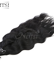 """neitsi 20 """"1 г / с кератином слияние у прибить наконечник естественная волна 100% человеческих волос 1b #"""