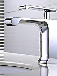 Montage Mitigeur un trou in Chromé Robinet lavabo