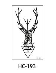 (1pcs) New Design Fashion Deer Temporary Tattoo Stickers Temporary Body Art Waterproof Tattoo Pattern