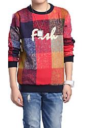 Casual/Dagelijks-Print-Katoen-Lente / Herfst-Boy's-T-shirt-Rood
