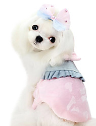 Dog Dress Blue / Pink / Yellow Winter Classic Fashion