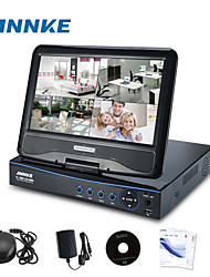 "Annke®New 10.1"" LCD 4CH AHD 720P  HD DVR NVR HVR Network CCTV Surveillance Video"