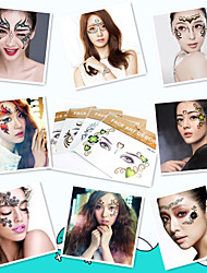 1Pcs Temporary Eye Tattoo Shadow Stick Face Tattoos Stickers Beauty Cosmetic Designs