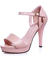 Women's Shoes Stiletto Heel Peep Toe / Platform Sandals Party & Evening / Dress Black / Pink / White