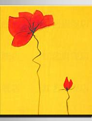 Ölgemälde Dekoration Blumen Hand gemalt Leinwand mit gestreckten eingerahmt m / L / XL