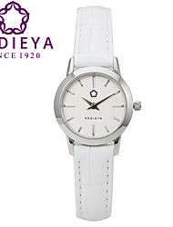KEDIEYA Top Brand 5 Colors Genuine Leather Waterproof Women Quartz Watch White Wristwatch Cool Watches Unique Watches