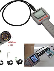 "6 LED 10mm 2.4 caméra d'inspection vidéo ""serpent portable pipe pipeline endoscope"