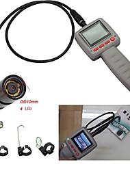 """6 led 10 milímetros 2.4 """"câmara de inspecção vídeo cobra portátil endoscópio tubulação"""