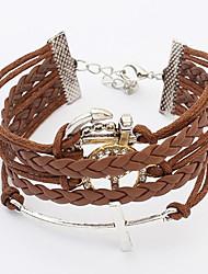 Bracelet- enAlliage / Cuir-Vintage / Décontracté-Lien / Chaîne / Cuir / Tressé / Cordon