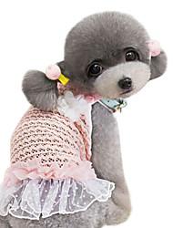 Dog Dress / Shirt / T-Shirt Pink Spring/Fall Classic Fashion