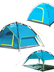 LANGYA Waterproof / Windproof Polyester One Room Tent Blue / Army Green